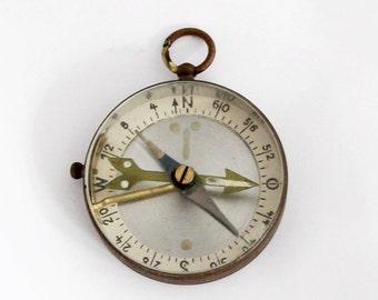 Vintage German Brass Compass