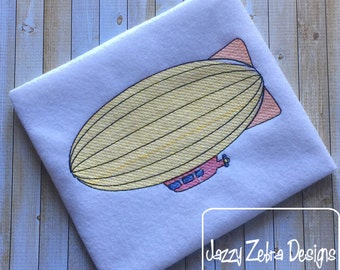 Zeppelin sketch embroidery design