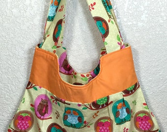 Owls in Orange Purse