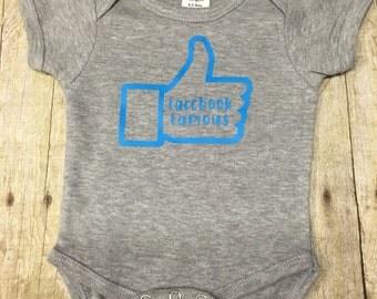 Facebook Famous Baby Onesie Funny Onesie Baby Shower Gift Cute Onesie Baby Gift Baby Girl Baby Boy Funny Baby Clothes Boy Onesie Girl Onesie
