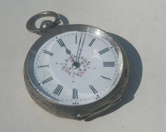 Vintage Swiss 935 Silver Ladies Fob Pocket Watch