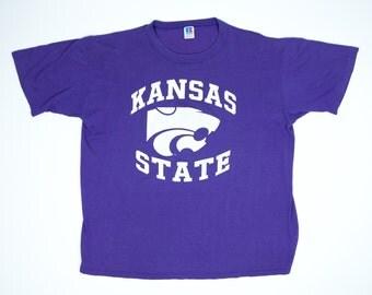Vintage Kansas State Tshirt XL - K State T-Shirt XL - Kansas State Wildcats Shirt XL - Kansas State University Shirt Extra Large