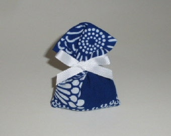 Mini, Scented Sachet:Lavender & Mixed Herb, Indigo and White Floral