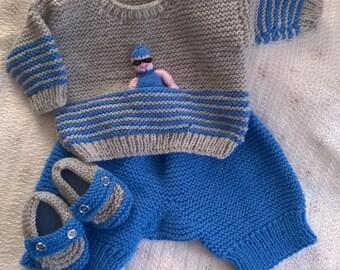 Baby Channel Swimmer - Knitting Pattern