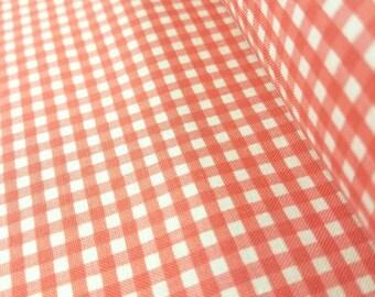 Coral Pink Gingham - 1/8 inch stripes - Riley Blake Designs