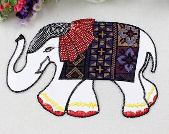 Elephant patch vintage embroidered  appliques elephant pattern fabric applique clothes decoration