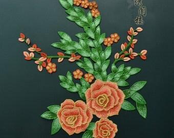 flower applique embroidery patch DIY Accessories applique vintage floral patches
