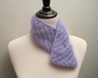 Lacey Angora Cowl in soft Lavender
