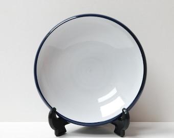 Mid-century Belgium Perignem/Amphora blue and white bowl.