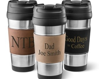 Personalized Stainless Steel Tumbler - Travel Tumblers - Personalized Coffee Tumblers -  Groomsman Gifts  - Gifts for Men - GC1362