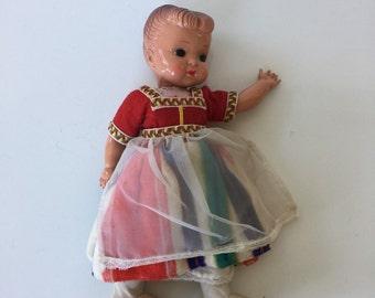 Adorable Vintage Celluloid Dutch Doll