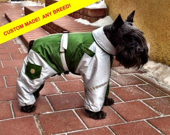 ANY BREED! Dog Raincoat. Dog Full Body Suit. Dog Jacket. Dog Overall. Custom Made.