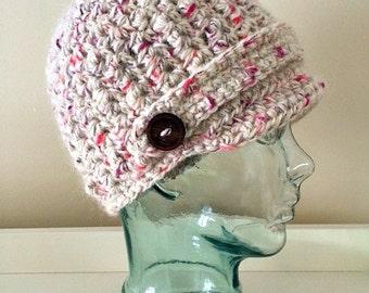Happy Newsboy Crochet Hat
