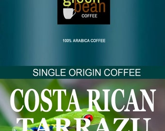 COSTA RICAN TARRAZU whole bean fresh roasted coffee displays a full body, robust richness and medium acidity with a clean finish, 2oz Sample