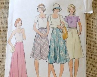 Uncut  Butterick 4067  // Vintage Misses' Skirts Sewing Pattern