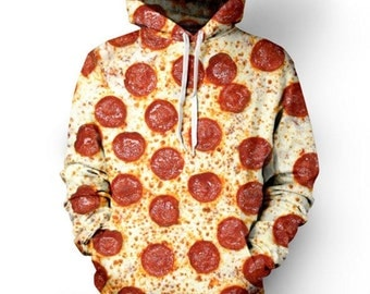 Pepperoni Pizza Sweater Hoodie