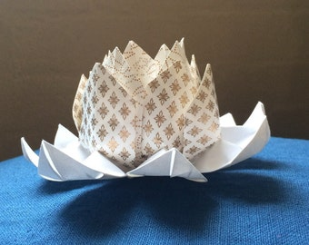 Origami lotus flower.