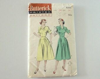 Butterick 6255 · Sz 14, Bust 32 · 1950s Womens Dress Pattern