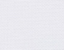 Cross stitch fabric counted cloth ZWEIGART AIDA 14 COUNT offwhite 101 sold by the meter - hand embroidery fabric bulk pure cotton white