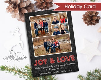 Personalized Photo Collage Holiday Card