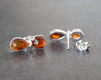 925 silver earrings Baltic amber