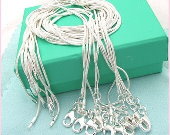 """Sterling Silver 20"""" Snake Chain Necklace"""