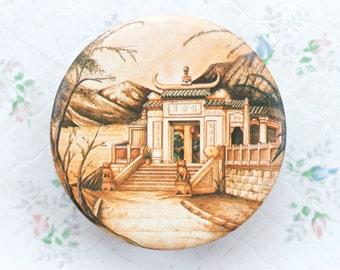 Round Tin Box - Oriental House