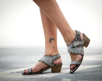 Sale 20% Heels Sandals, White Sandals, Leather Sandals, Handmade Sandals,White Summer Shoes, Strappy Sandals, White Slingback, Juliette
