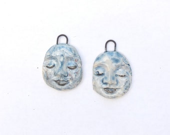 The Color of God  - Withered Rough Artifacts -  Earring Pair Ceramic Dangles by Donna Perlinplim