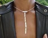 Silver T Bar necklace Unique Necklaces For Women Lariat Choker Necklace Silver Dainty Necklace Silver Choker Chain Silver plated UK Shop