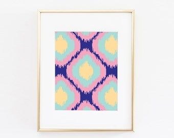 Abstract Modern Printable Art | Navy and Pink Art Print  | Abstract Wall Art | Modern Art | Minimalist Art | Abstract Print | Home Art |