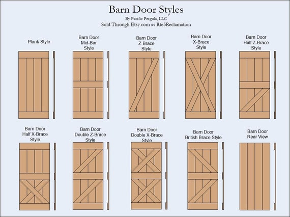 Barn Door Half X Brace Style Rustic Reclaimed Rough Cut