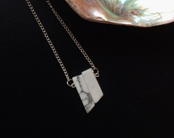 Minimal Marble - Asymmetrical Necklace