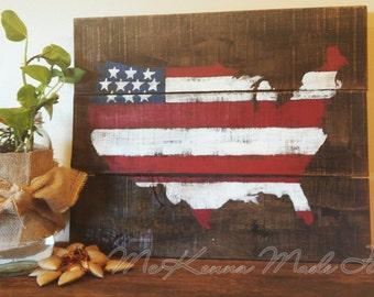 Americana Decor Red White And Blue Go Usa