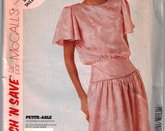 McCall's Sewing Pattern 3636 Misses' Top, Skirt  Size:  B  12-14-16  Uncut