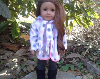 18 inch doll fleece hoodie
