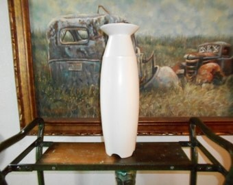 1940s white Hyalyn Exquisite porcelain footed Tall Vase number 809