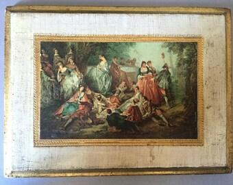 Free Shipping* Florentine Painting Wooden Plaque Renaissance