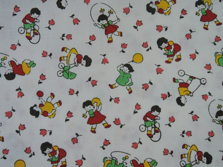 Fat quarter of 2015 lecien retro 30 39 s kids fabric in for Retro kids fabric
