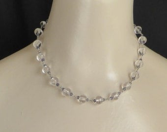 Pretty Vintage Style Facetted Quartz and Iolite