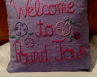 Customized Hand Embroidered Pillows!