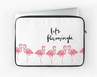 Laptop Sleeve: Let's Flamingle {Flamingo Cute Pencil Pouch, Makeup Pouch, Cosmetic Case}