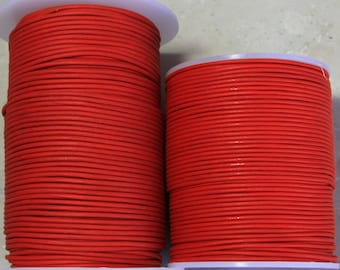 1.8mm  Red Leather- 25 meters