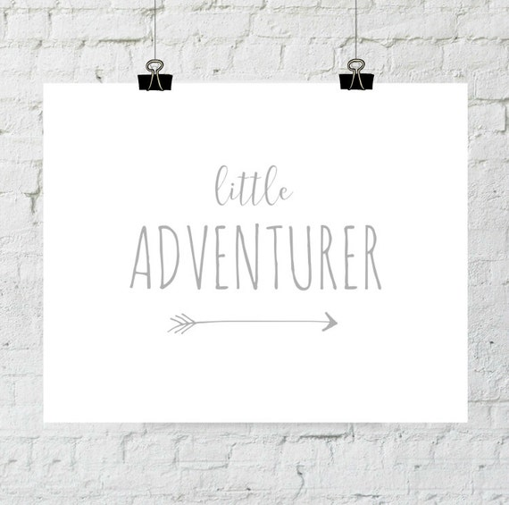 Printable Nursery Art, Adventure, Little Adventurer, Baby Girl, Baby Boy, Nursery Decor, Instant Download, Printable, Arrow Art, Adoption