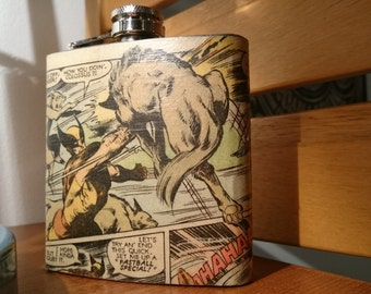 X-Men Wolverine comic Hip Flask.