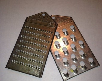 Now On Sale Vintage Kitchen 3 in 1 Graters Grater