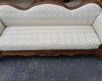 reupholstered antique/vintage settee