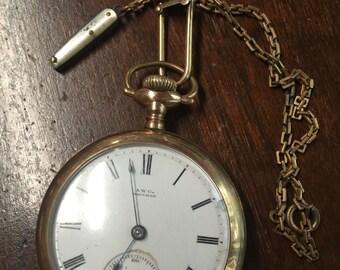 Waltham Pocket Watch ~ Neat Knife Watch Fob ~ Runs