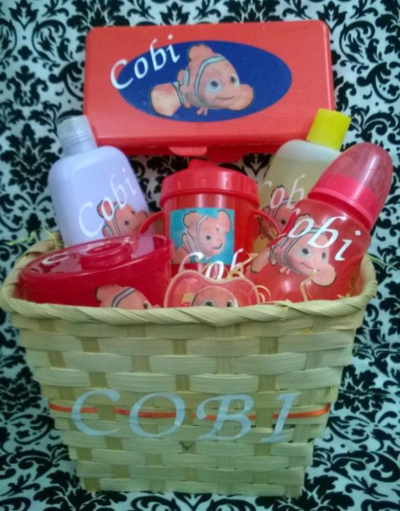 Baby Gift Basket Etsy : Personalized baby shower gift basket