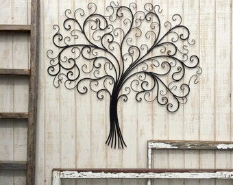 large metal wall art metal wall decor tree wall art metal tree decor - Large Metal Wall Decor